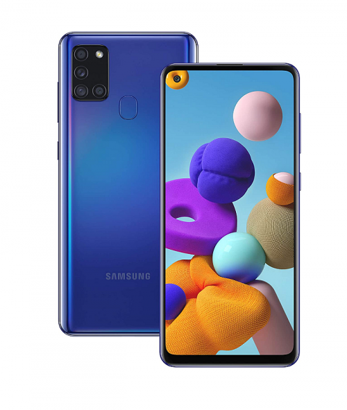 Samsung Galaxy A21s Smartphone Front & Back View